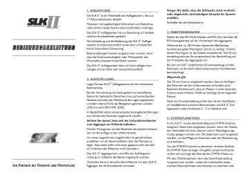 1. EINLEITUNG 2. AUFSTELLUNG 3 ... - Medigroba GmbH