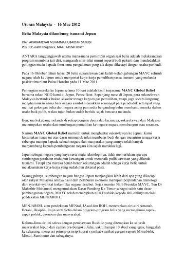 Belia Malaysia dilambung tsunami Jepun - IPPBM