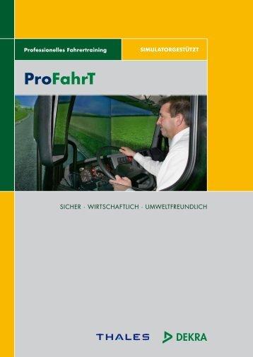 "Broschüre ""ProFahrT - Professionelles Fahrertraining"" - Heidi Buck"