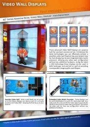 "46"" Super Narrow Bezel Video Wall Display - Hollywood Displays"