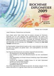 Tübingen, den 14.04.2009 Liebe Professoren, Professorinnen und ...