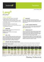 Lang Fact Sheet