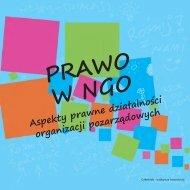 PRAWO W NGO. Aspekty prawne działalności organizacji ... - Sektor3