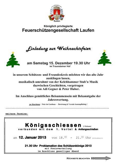 Weihnachtsfeier Im Januar.Weihnachtsfeier 97 Einladung Kã Nig Fsg Laufen