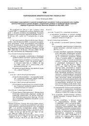 Rozporządzenie Ministra Rolnictwa i Rozwoju Wsi z dnia 18 ...