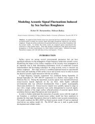 Modeling Acoustic Signal Fluctuations Induced by Sea Surface ...
