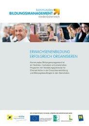 Infofolder zum Download - Kommunales Bildungsmanagement