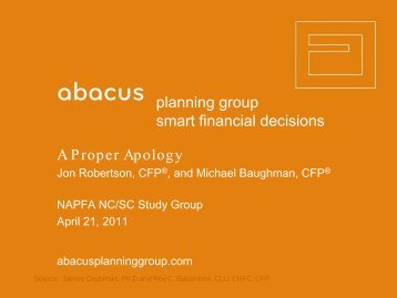 Proper Apology - Abacus Planning Group