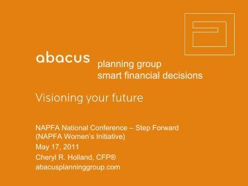 Visioning your future - Abacus Planning Group