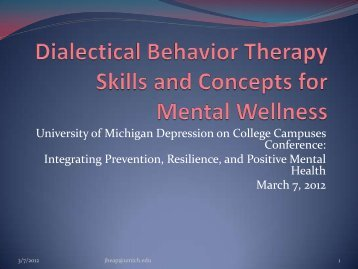 Integrating Prevention, Resilience, and Positive Mental Health