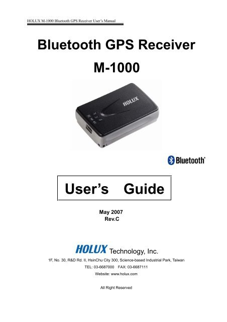 HOLUX M 1000 BLUETOOTH GPS RECEIVER DRIVER FOR MAC
