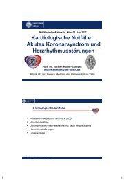 Kardiologische Notfälle - Klinik II Innere Medizin