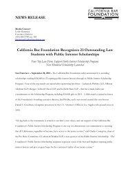 CBF Pub Int Scholarship Press Release 2011 09 20 FINAL