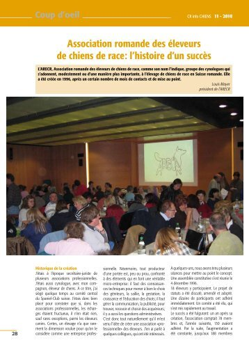 Clin d'oeil Revue 11 2010 Race du mois