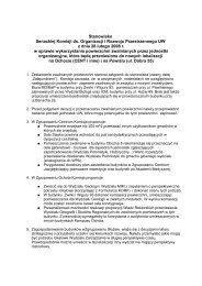 Stanowisko Senackiej Komisji ds. Organizacji i Rozwoju ...