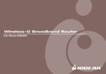 Wireless-G Broadband Router - IOGear