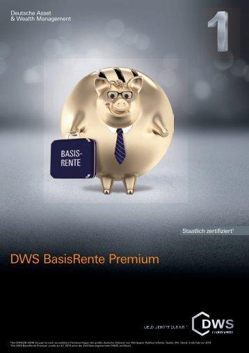 DWS BasisRente Premium - Dws.com