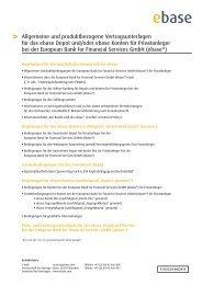 Bedingungen ebase - Fondsportal24.de