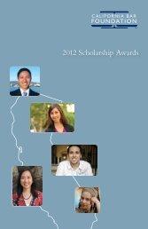 2012 Scholarship Awards - California Bar Foundation
