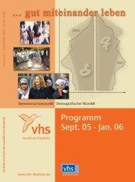 Programm Sept. 05 - Jan. 06 - VHS Diepholz