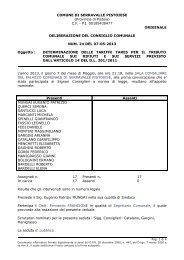 Delibera C.C. n. 24 del 07-05-2013: determinazione delle tariffe