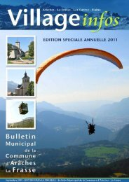bulletin municipal - édition spéciale annuelle 2011 - Commune ...