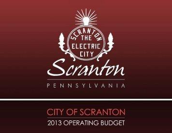 Scranton 2013 Budget