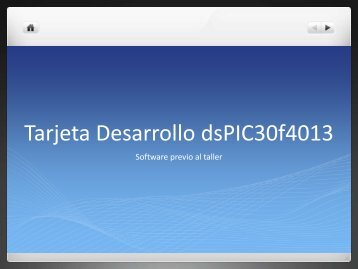 Tarjeta Desarrollo dsPIC30f4013