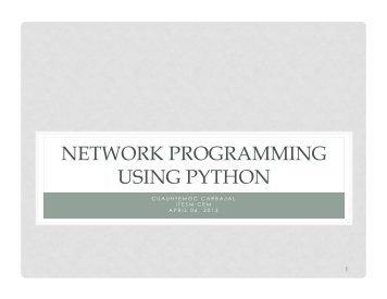 NETWORK PROGRAMMING USING PYTHON