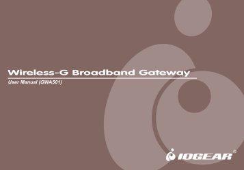 Wireless-G Broadband Gateway - Iogear