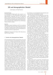 GIS und demographischer Wandel - Institut AGIRA eV