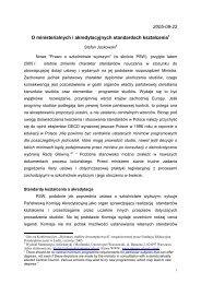 2005-09-22 O ministerialnych i akredytacyjnych standardach ...