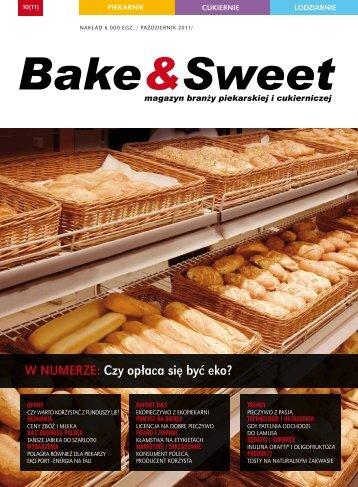 w numerze: Czy opłaca się być eko? - Bake & Sweet