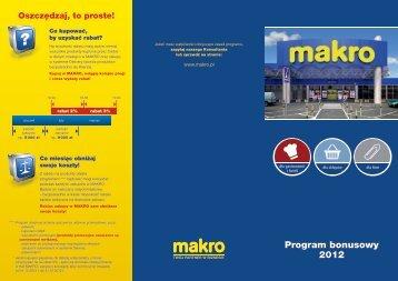 Program bonusowy 2012 - Makro