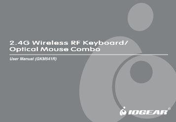 2.4G Wireless RF Keyboard/ Optical Mouse Combo - IOGear