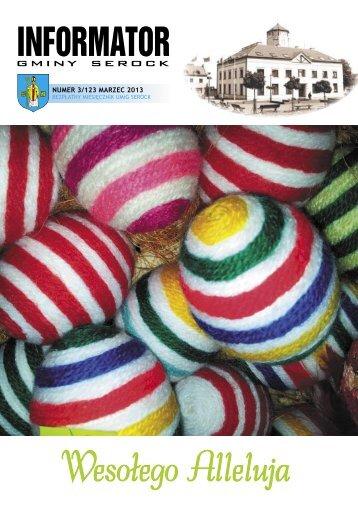 INFORMATOR nr 03 (123).indd - Urząd Miasta i Gminy w Serocku
