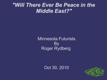 Recommendation of a Strategy - Minnesota Futurists