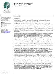 30 september 2012 - Matrix Asset Management BV