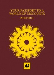 Your Passport To A World Of Discounts 2010 - Automobile Club