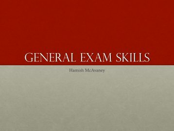 GENERAL EXAM SKILLS - Monash Law Students' Society