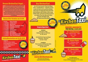 UNSERE ANGEBOTE Das KirchenTaxi www.kirchentaxi.de