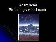 """""""Kosmische Strahlungsexperimente"""" (Einstein-Gymnasium) - Desy"""