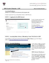 Accessing Databases for GMP - Baker Library - Harvard Business ...