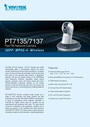 Vivotek PT7137 User Manual - Network Webcams