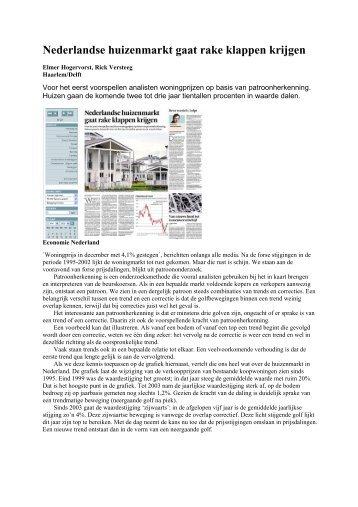 Artikel Het Financieele Dagblad 3 maart 2008 - Huizenmarkt
