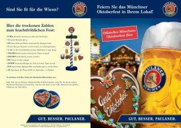 Feiern Sie das Münchner Oktoberfest in Ihrem Lokal ... - Linzgieseder