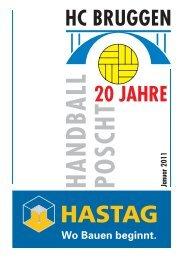 Handball Poscht Ausgabe 01/11 - HC Bruggen
