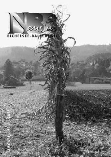 2005.11 [PDF, 2.00 MB] - Gemeinde Bichelsee-Balterswil