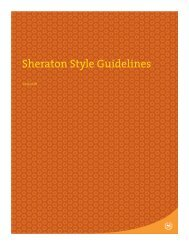 Sheraton Style Guidelines - visit