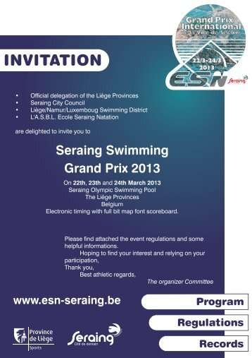 Seraing Swimming Grand Prix 2013 - ESN